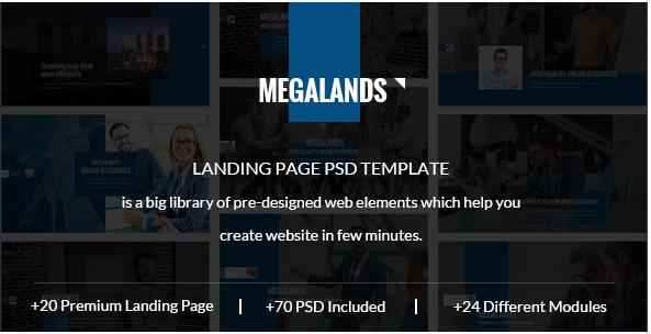 Best Landing Page PSD Design Templates