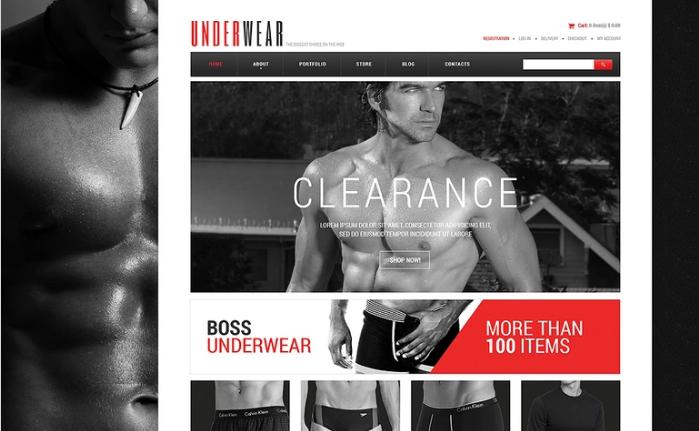 Men's Underwear PSD Template
