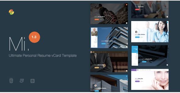 Mi. - Resume Website Templates