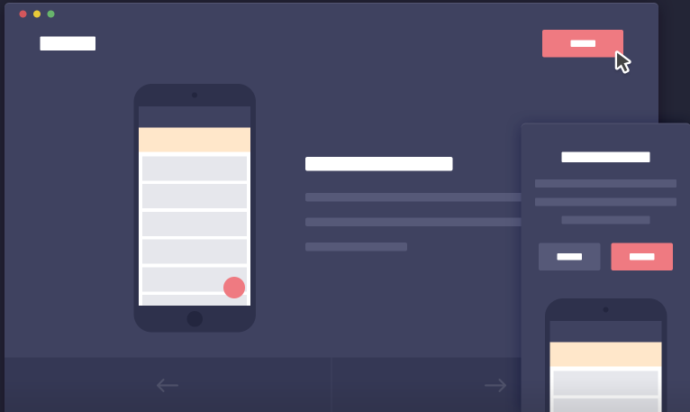 Mobile App Introduction Template with CSS3 & jQuery