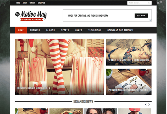 Motive Mag-Free Blogger Template