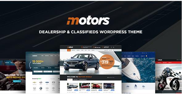Motors - Automotive, Cars, Vehicle, Boat Dealership, Classifieds WordPress Theme