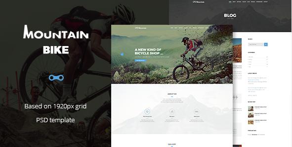 Mountain Bike - Extreme Sport Club Template