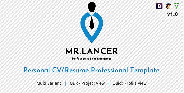 Mr.Lancer - Resume Website Templates