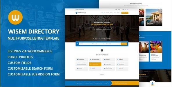 Multi-Purpose Directory WordPress Theme - Wisem