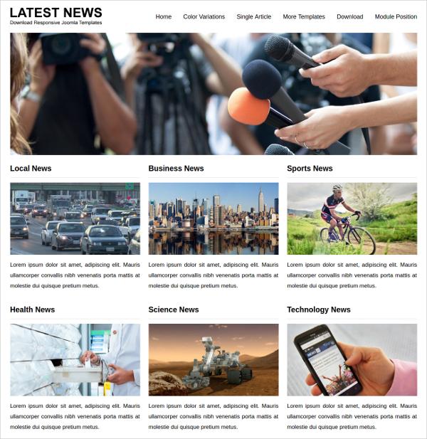 Best News Magazine Joomla Templates