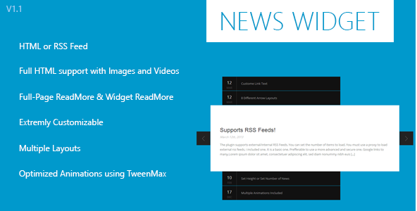 News Widget - jQuery Plugin