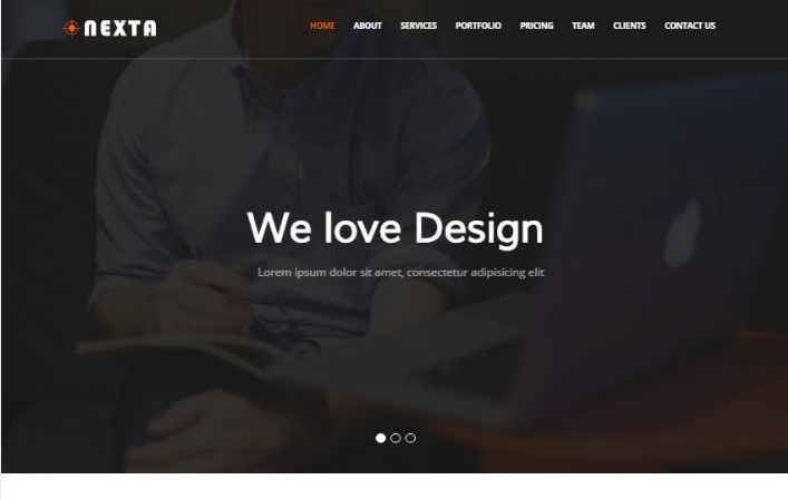 Nexta Corporate Bootstrap4 Website Template