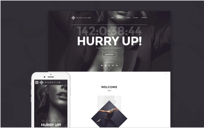 Night Club Website Template