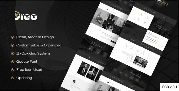 Oreo - Creative Landing Page PSD Template