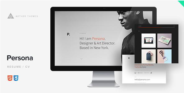 Persona - Resume Website Templates