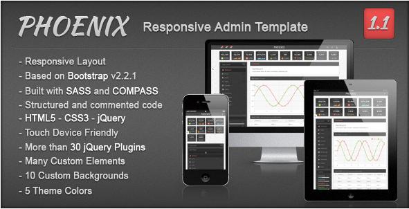 Phoenix - Responsive Admin Template
