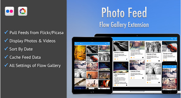 Photo Feed - Flow Gallery Exension