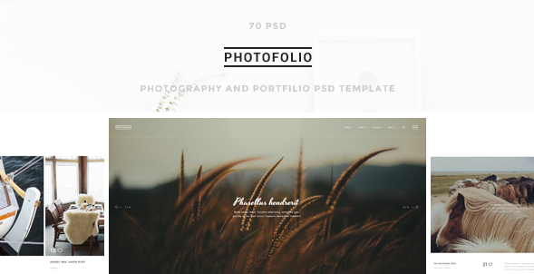 Photofolio: Photography PSD Design Templates
