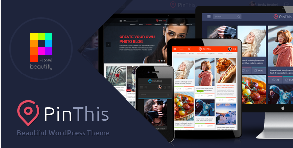 PinThis - Pinterest Style WordPress Theme