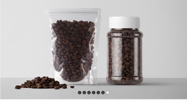 Plastic Coffee Packaging Mockup
