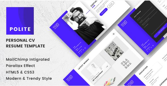 Polite - Resume Website Templates