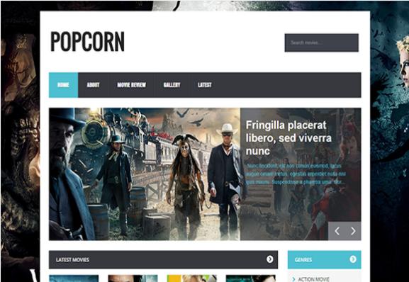 PopCorn-Free Blogger Template