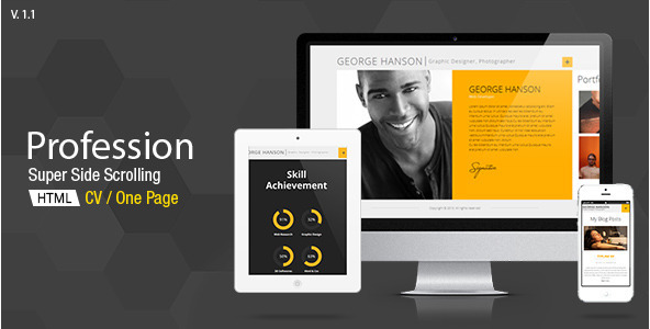 Profession - CV Resume HTML Template