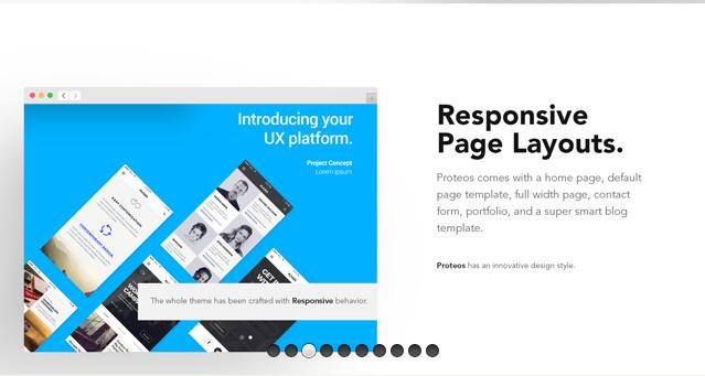 Proteos Corporate Psd Website-Free Mockup Templates