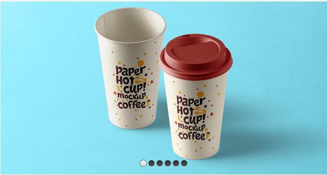 Psd Paper Hot Cup Template Vol9