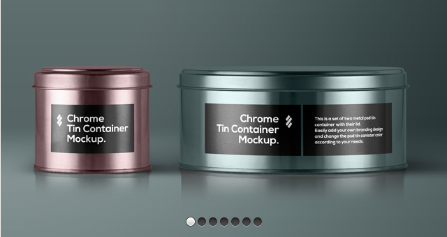Psd Tin Container Packaging Vol3-Free Mockup Templates