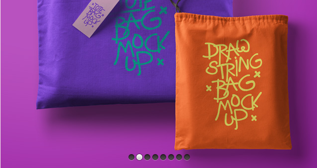 Psd Tote Bag Drawstring Mockup-Free Mockup Templates