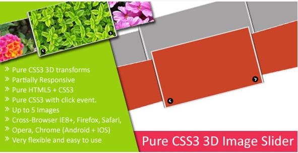 Pure CSS3 3D Image Slider