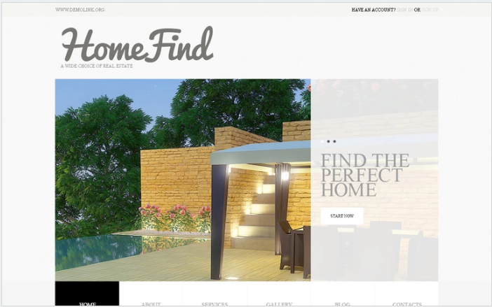 Real Estate Agency PSD Template