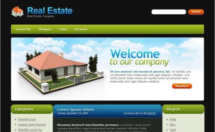 Real Estate PSD Design Template