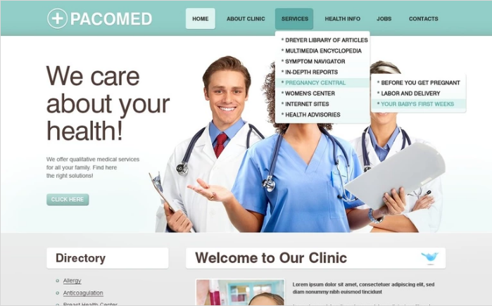Best Health PSD Design Templates