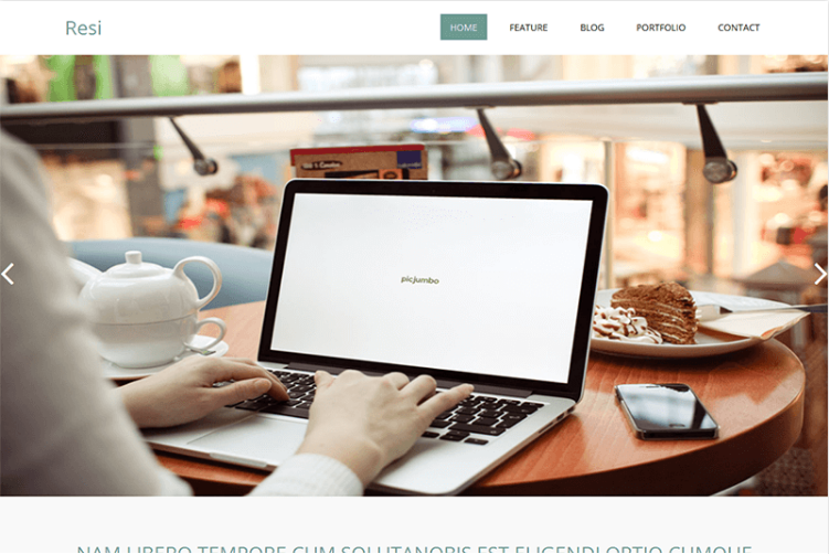 Resi – Free bootstrap HTML template