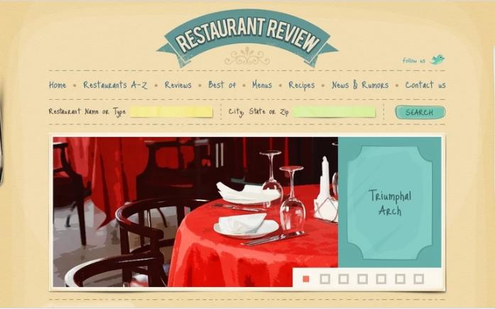Restaurant Reviews PSD Template