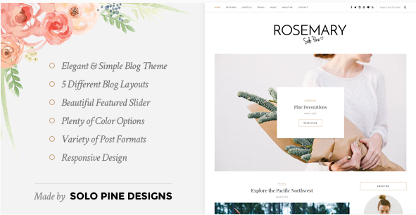 Rosemary - A Responsive WordPress Blog Theme