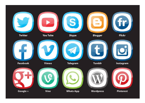 Rounded Square Social Media Vectors