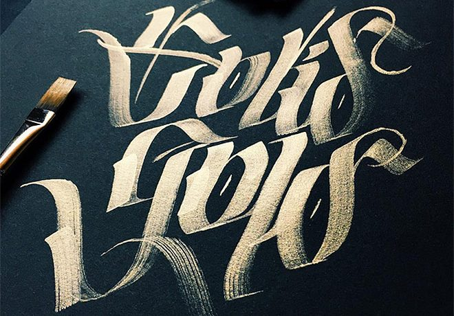 Brilliant Examples of Blackletter and Gothic Calligraphy