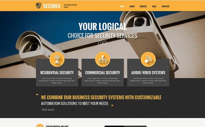 Securax PSD Template