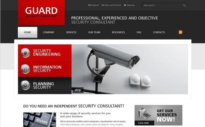 Security PSD Template
