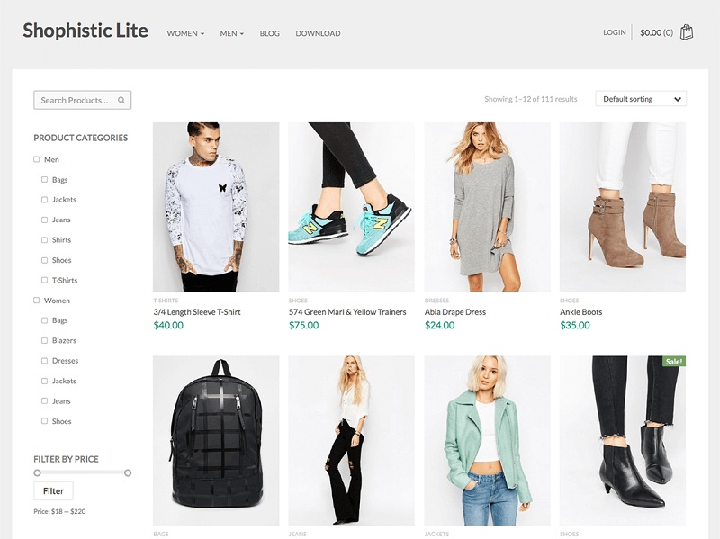 Shophistic Lite Free WooCommerce Theme for wordpress