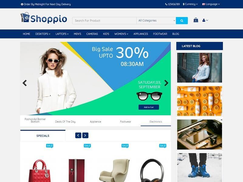 shoppio Free OpenCart Themes