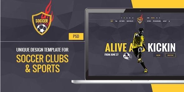 Soccer Acumen - Soccer and Football Sports PSD Design Templates