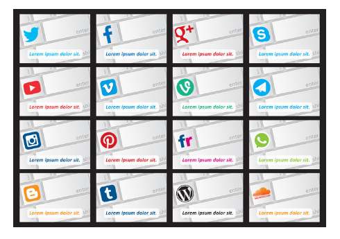Social Media Keyboard Vectors