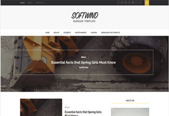 SoftWind-Free Blogger Template