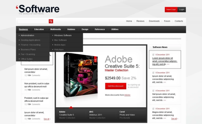 oftware Company PSD Template