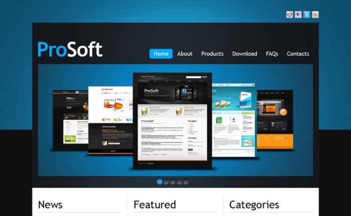 Software Company PSD Template
