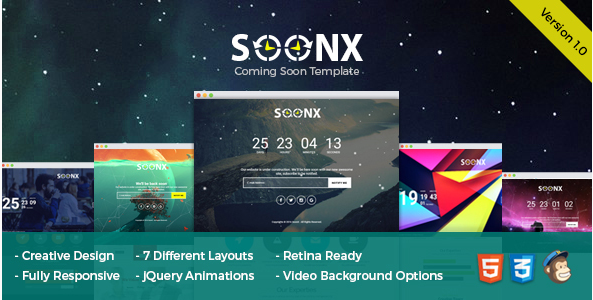 SoonX - Coming Soon Template