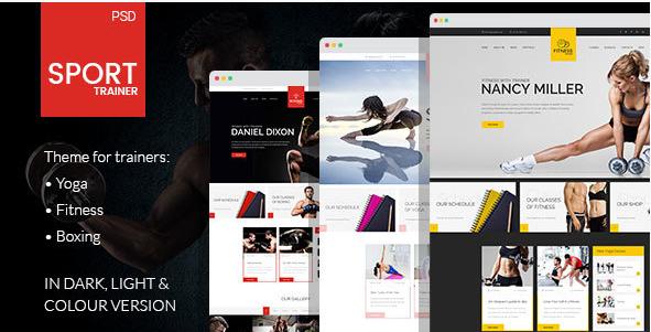 Sport Trainer - Sports PSD Design Templates