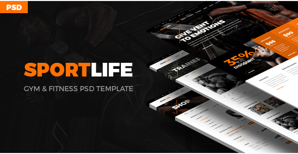 SportLife - Sport, Gym, Fitness PSD Template