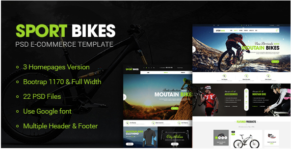 Sportbike - Multipurpose Sports PSD Design Templates