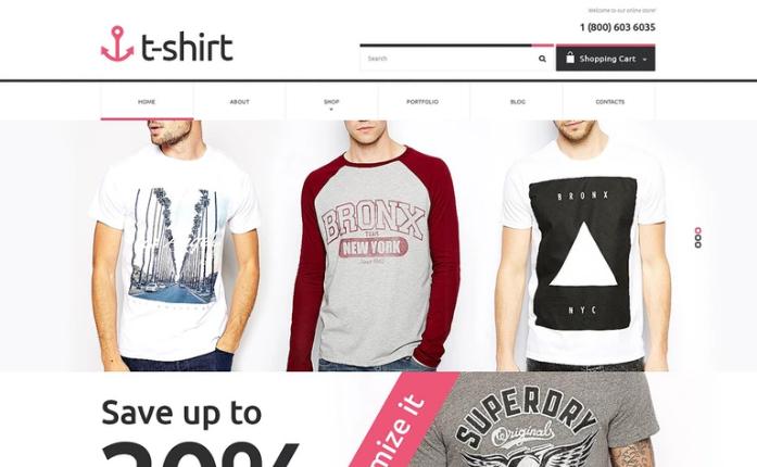 T-shirt Shop PSD Template